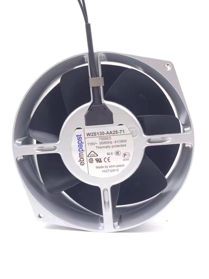 Ebm Papst W2s130 Aa25 71 Server Round Fan Ac 115v 41  38w 50  60hz 172x150x55mm 2 Wire
