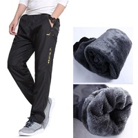 Grandwish Men S Pants Are Straight In Autumn And Winter Thick Pants Men Quick Drying Warm