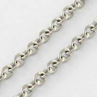 316 Stainless Steel Cross Chains for jewelry making bracelet, Soldered Rolo Chains, Stainless Steel Color, 2x2x0.5mm; 50m/roll