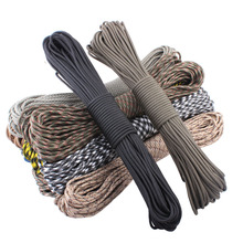 fedex free shipping 100 colors Paracord 550 Paracord Parachute Cord Lanyard Rope  Spec Type III 7 Strand 100ft Climbing Camping