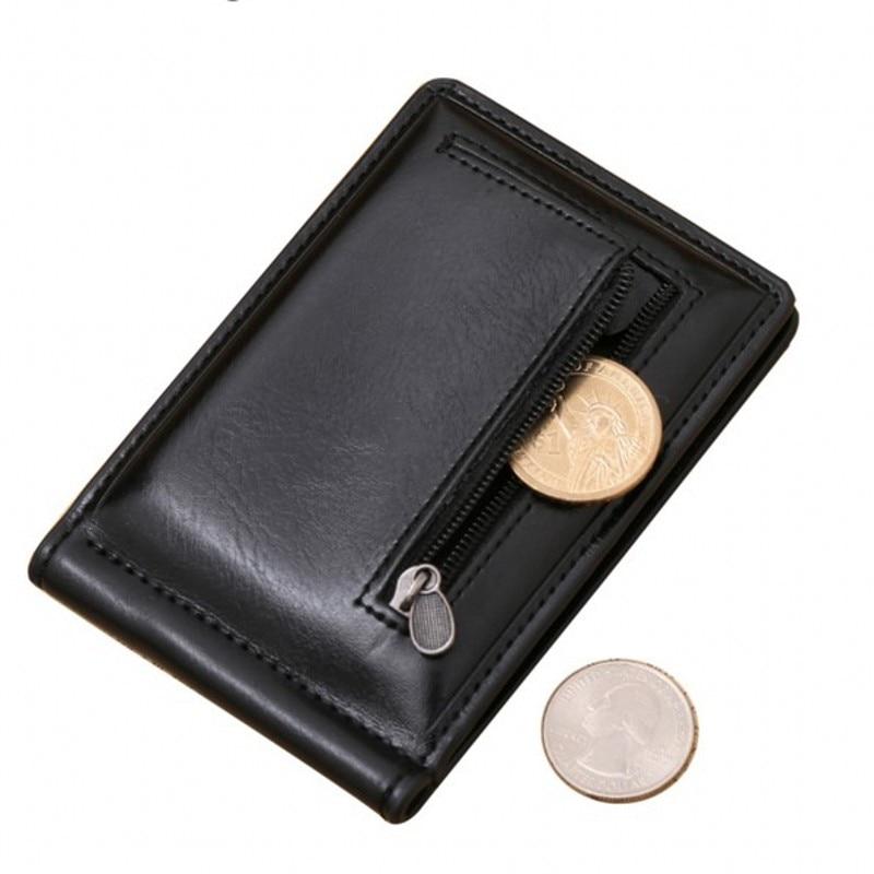 סלים מיני כסף קליפים כרטיס חריץ - ארנקים