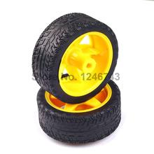 2PCS The robot/car chassis wheel/smart car chassis/wheels for arduino