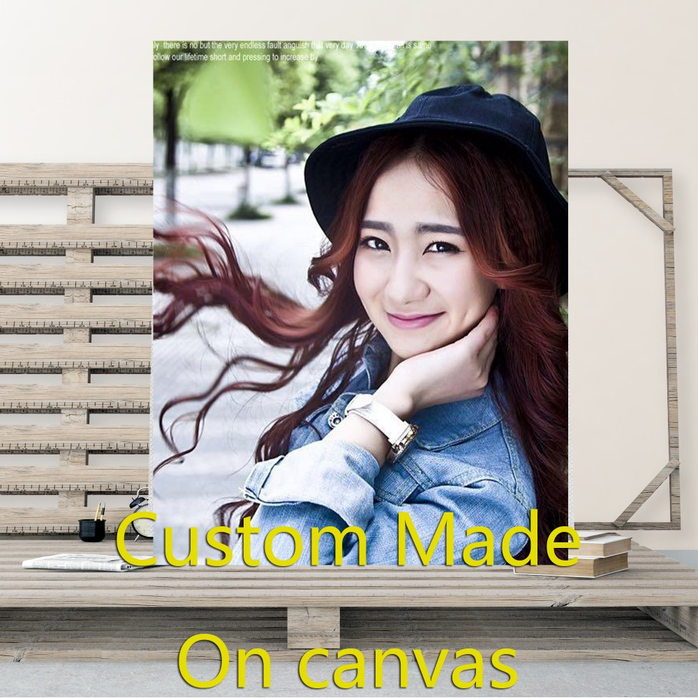 Custom Made On Canvas Customized With Own Photo Print Your Own Picture Waterproof Printing Customized Artwork Your Picture Poste