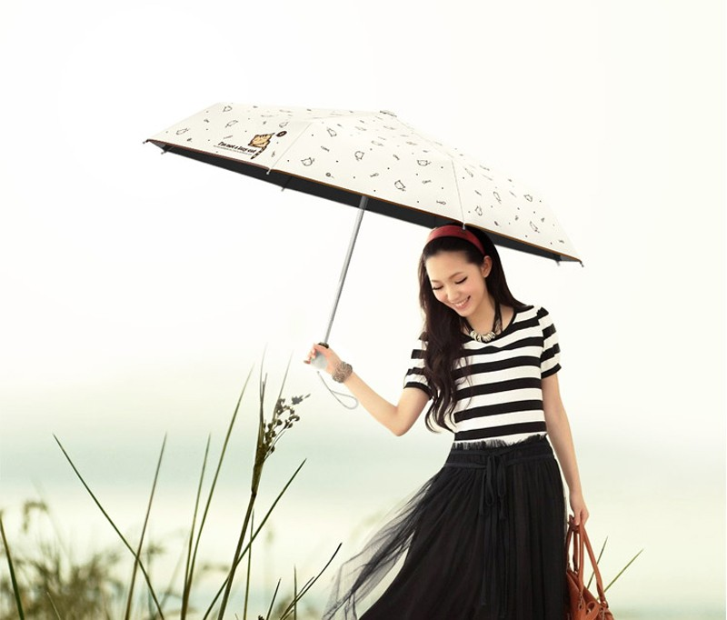 Cartoon Lazy Cat Auto OpenClose Folding Umbrella Rain Women Men Sun Umbrella Anti-UV Windproof Automatic Parasol Mini10