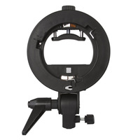 Neewer S Type Bracket Holder With Bowens Mount For Speedlite Flash Snoot Softbox Beauty Dish Reflector