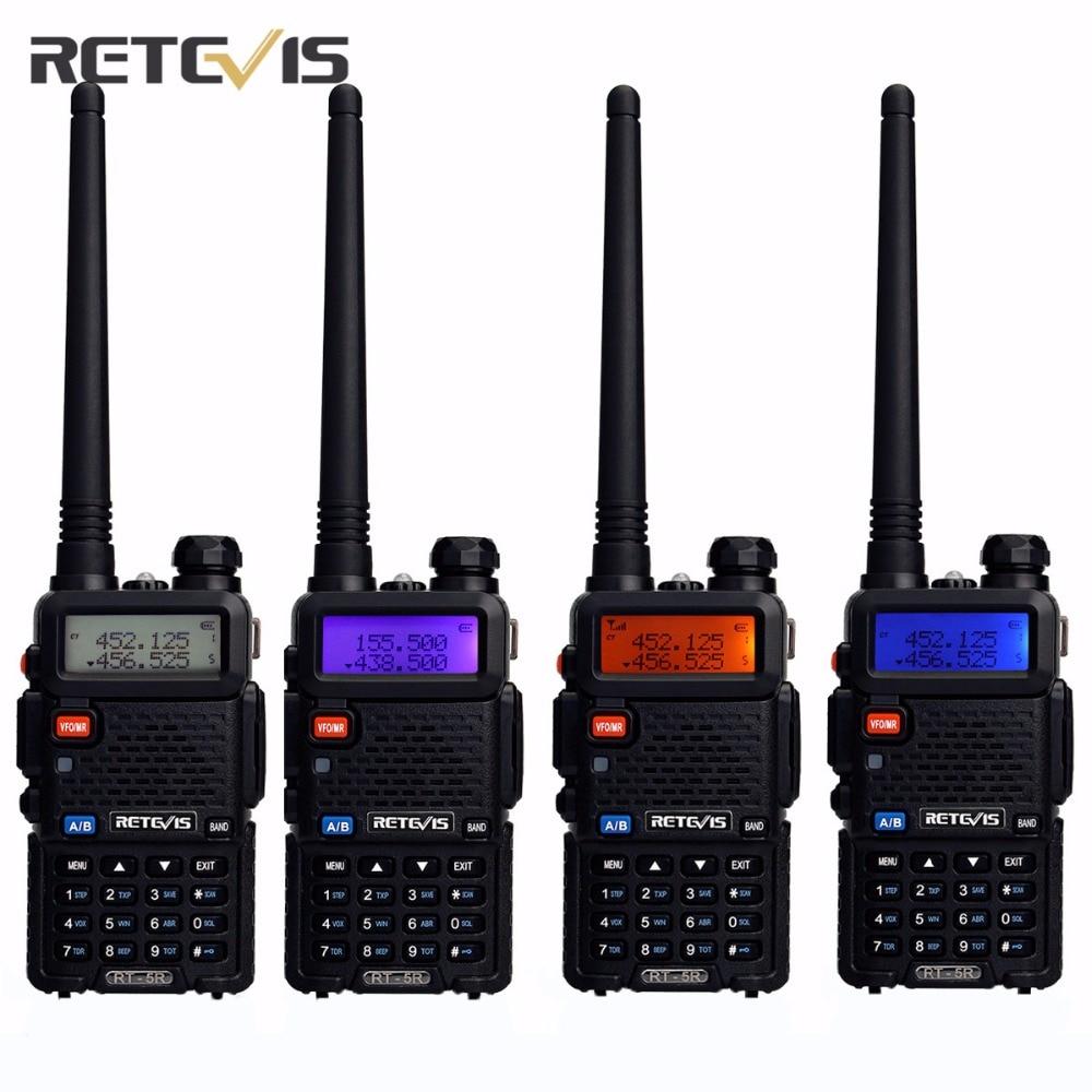 4X Team Handy Radio Walkie Talkie Transceiver Retevis RT 5R 5W 128CH VOX Scan FM Ham Portable Radio Set Good Communication Tools