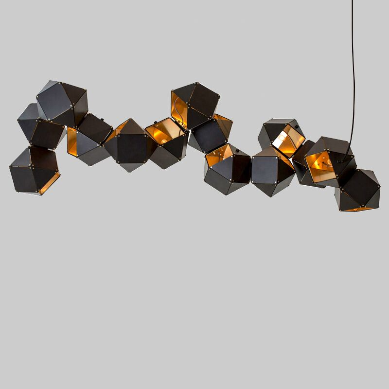 Welles Post Moderne En Métal Creative ADN Pendentif Blanc/Noir Long/Circulaire Peut Choisir Lampe Design Pour Restaurant Studio la maison