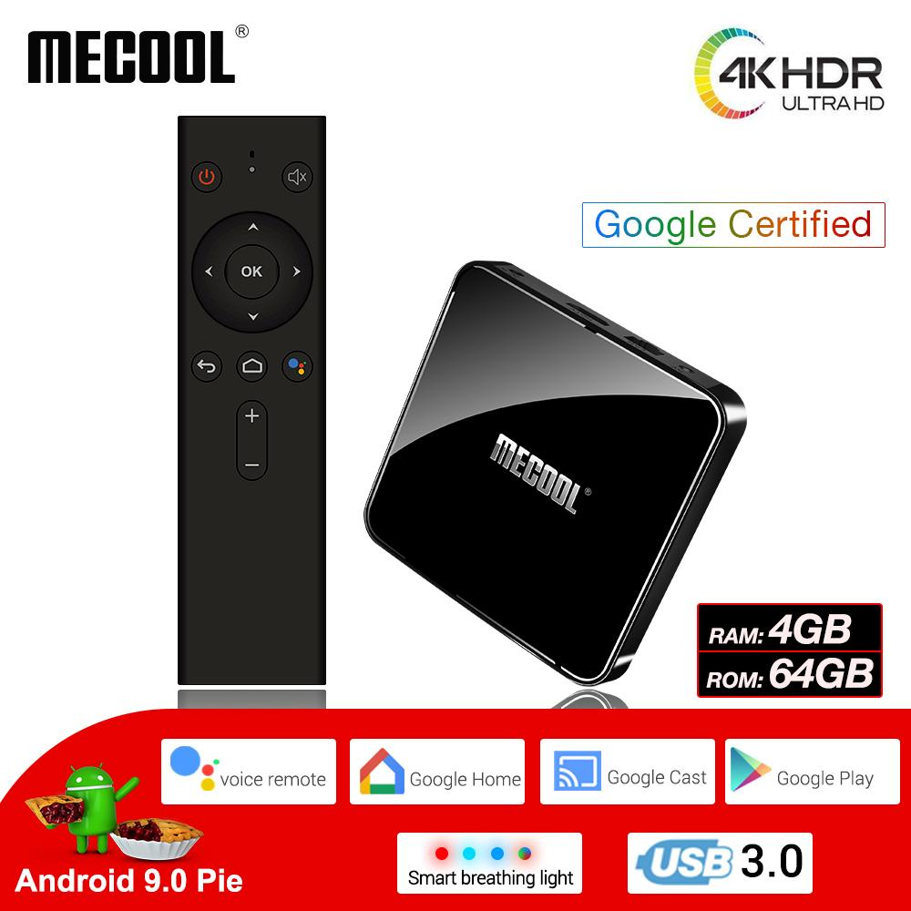 MECOOL Smart Android 9 0 TV Box 4G 64G 4K HDR Google Home Play Cast Ultra