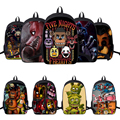 Trolls FNAF Five Nights At Freddy Backpack School Bags Bear Foxy Fazbear Bear Fox Rabbit Duck Cartoon Backpacks for Boys Gift
