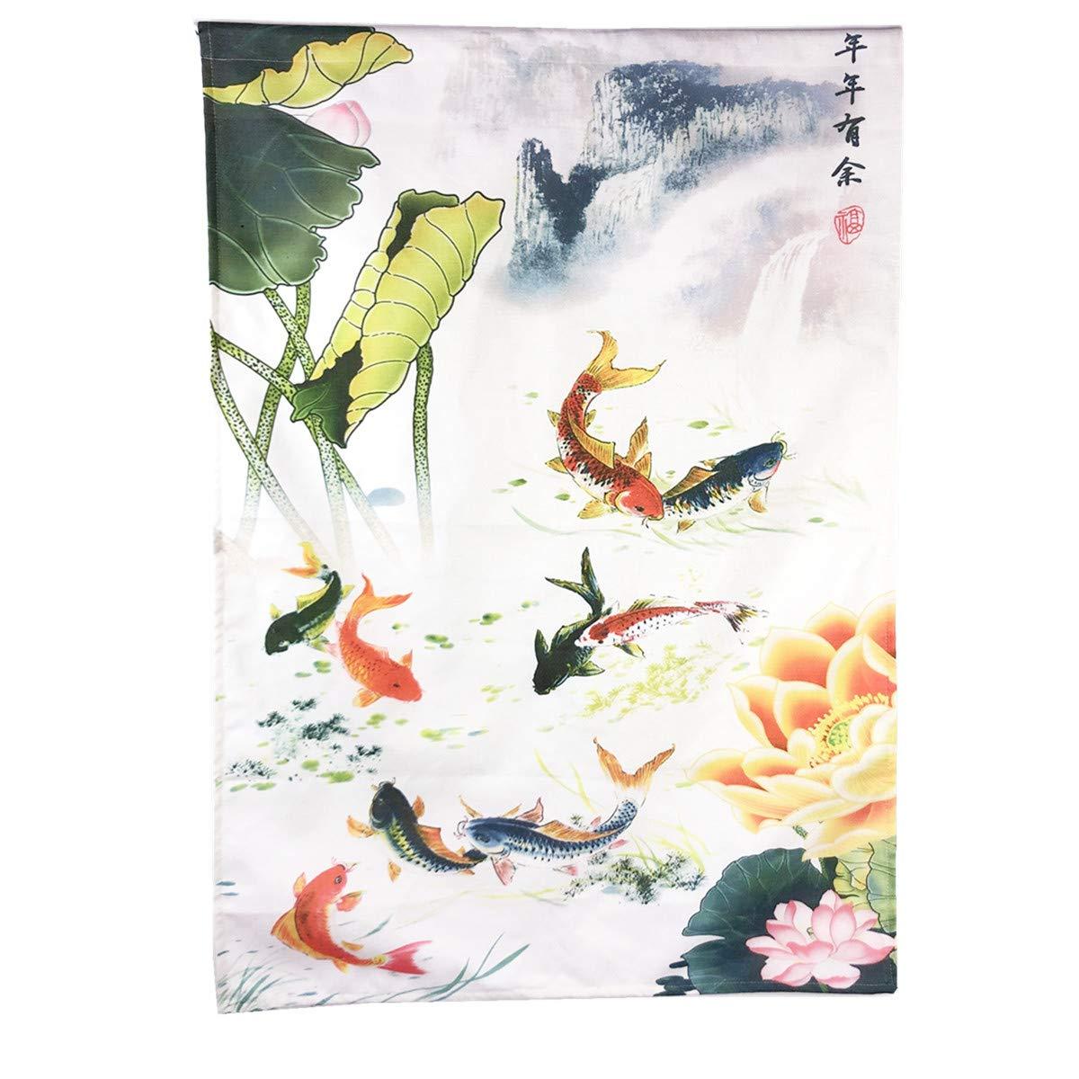 JAPANESE Noren Curtain NEW KOI FISH  MADE IN JAPAN