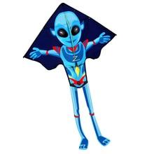 Купить с кэшбэком Professional  NEW Toys Cartoon Alien Kite For Children Gift With Handle and Line Good Flying