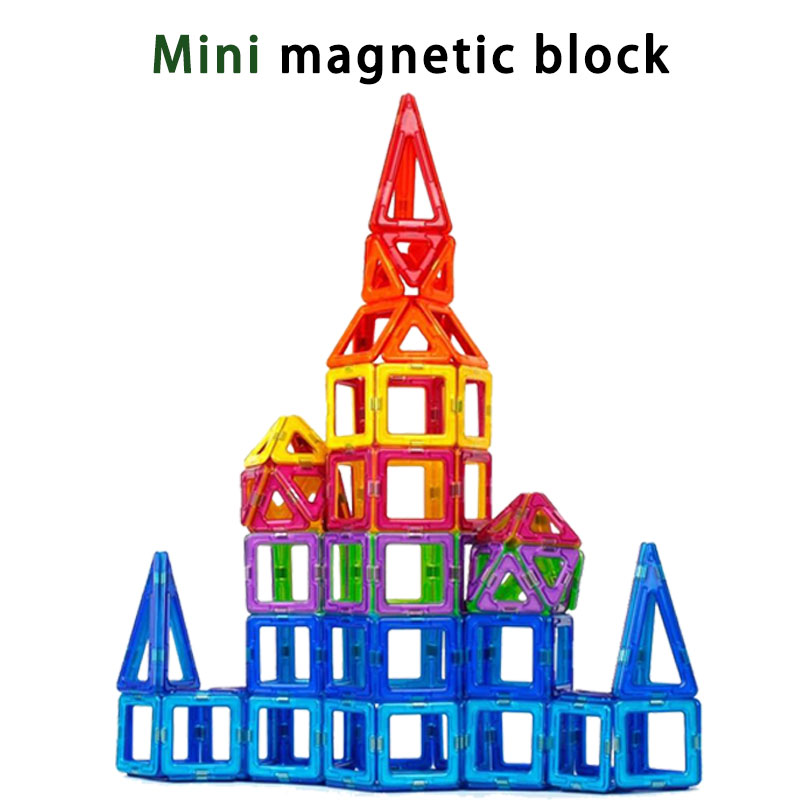 BD Mini Magnetic block Designer Construction Set enlighten Model Building Toy Magnet Blocks Educational Toys For Children Gifts
