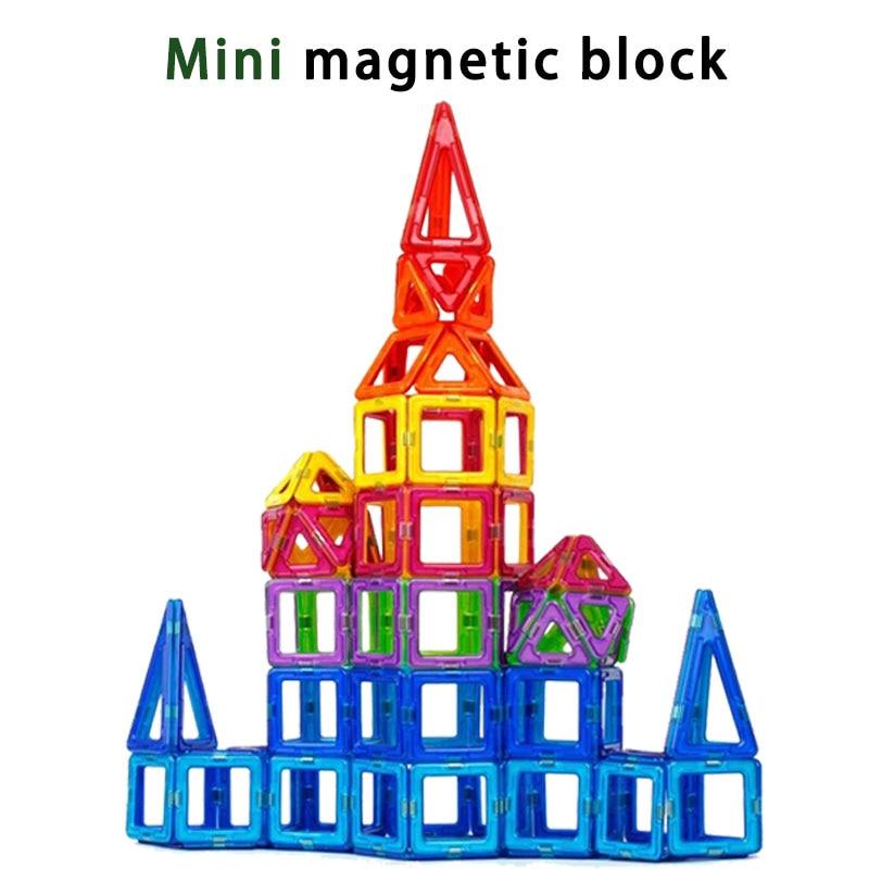 BD Mini Magnetic block Designer Construction Set enlighten Model Building Toy Magnet Blocks Educational Toys For Children Gifts bd 58 252pcs mini magnetic designer construction set model