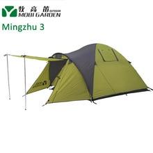Mobi Garden Mingzhu 3 people 3-season Double layer Tent two Door Outdoor Leisure Family Camping Tent