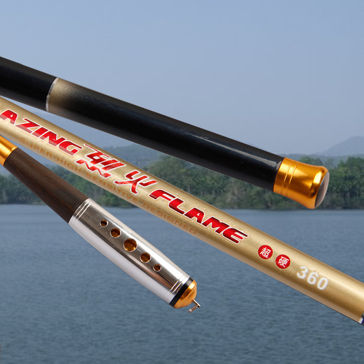 MiG New Superhard High Carbon Fiber 3.6/4.5/5.4/6.3/7.2M Telescopic Hand Rod Carp Fishing Pole Stream Rod Casting Fishing Tackle