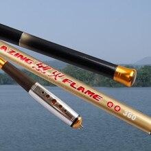 MiG New Superhard High Carbon Fiber 3.6/4.5/5.4/6.3/7.2M Telescopic Hand Rod Carp Fishing Pole Stream Rod Casting Fishing Tackle