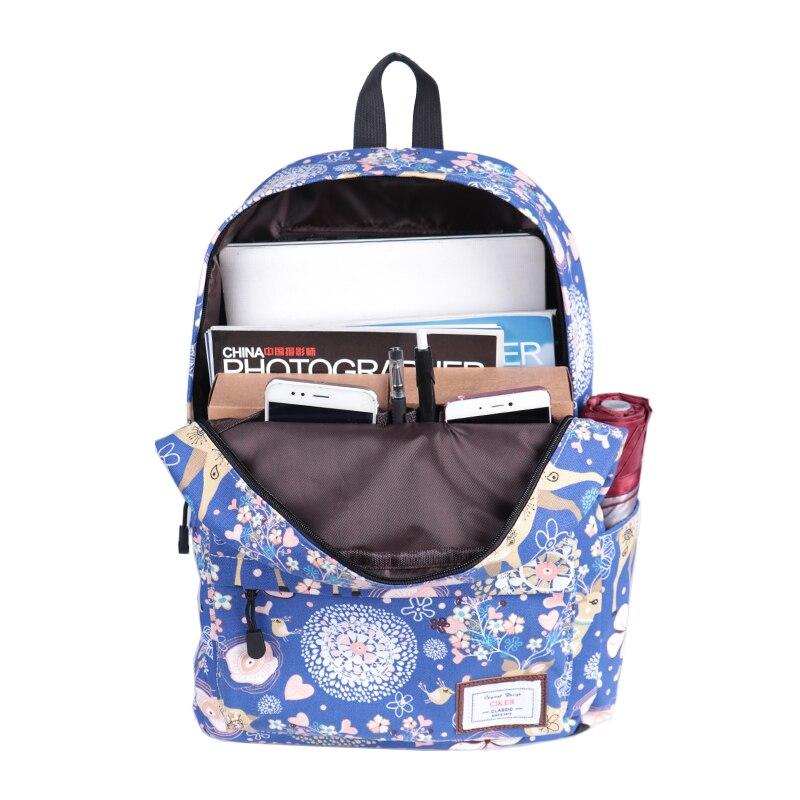 CIKER mignon femmes école sac à dos cerf Animal motif impression grande capacité sac de voyage filles collège Bookbag Mochilas sacs à dos - 6