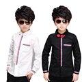 Большой мальчик рубашки 5-13 лет с длинным рукавом дети рубашки мальчик дети рубашки мальчиков рубашки осень