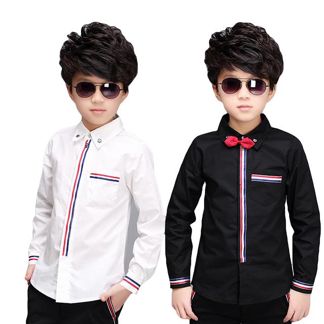 Camisetas Big boy 5-13 años camisas de manga larga niños muchacho de los niños de los muchachos camisas de otoño