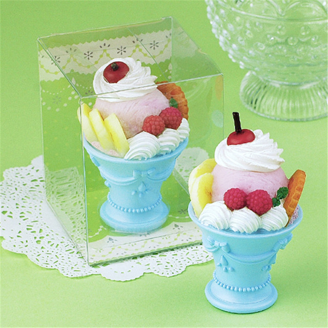 Children Party Birthday Candle Cake Topper Fruit Cupcake Toppers Ice