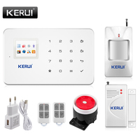Kerui G18 Built In Antenna Alarm PIR Motion Detector Wireless Smoke Flash Siren LCD GSM SIM
