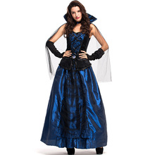 Umorden Womens Blue Enchantress Countess Costumes Midnight Vampiress Vampire Costume Halloween Carnival Masquerade Party Cosplay