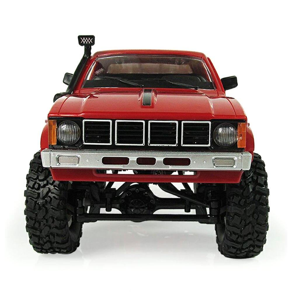 Прочный RC грузовик набор игрушка RC гоночный набор игрушка для Wpl C-24 Прямая - Цвет: red