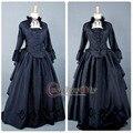 Бесплатная Доставка На Заказ Средневековый Викторианской Бальное платье Костюм Темно-Синий Готический Панк Dress