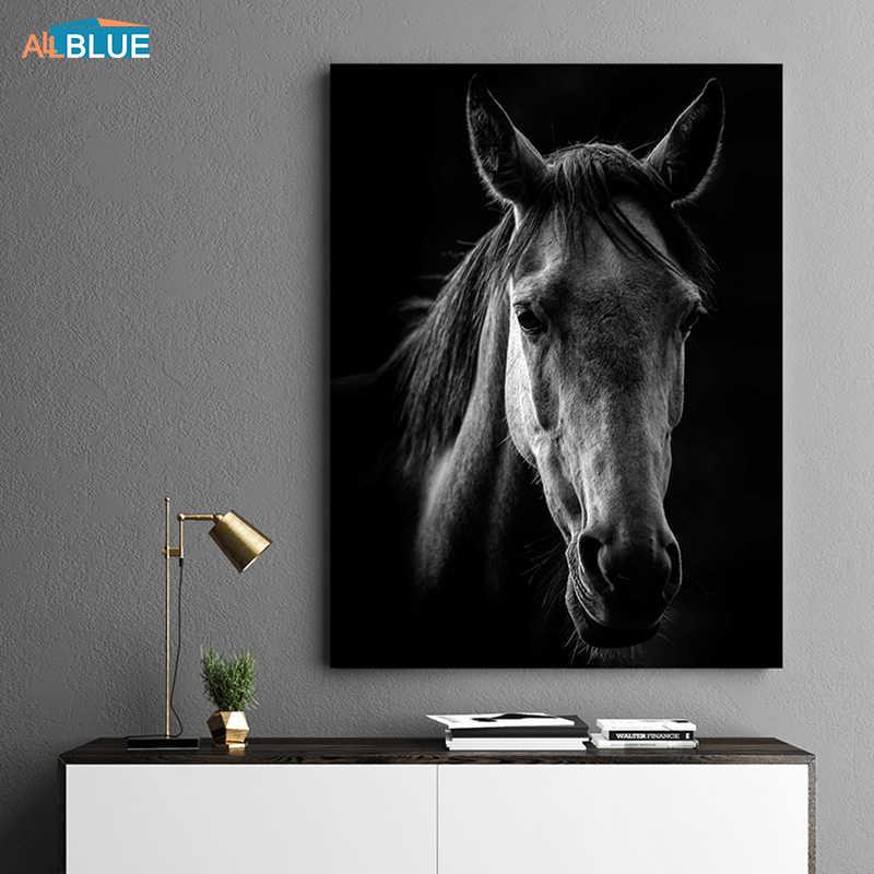 الحصان جدار الفن قماش يطبع الحيوانات الملصقات والمطبوعات جدار لوحات فنية لغرفة المعيشة جدار صور لغرفة المعيشة ديكور