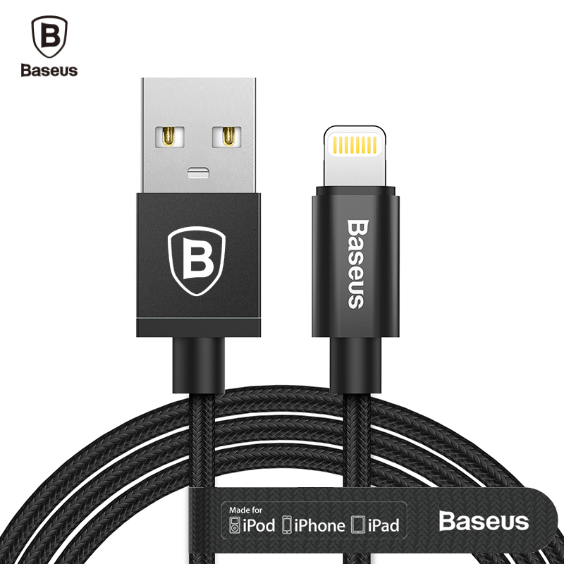 Baseus MFI USB Cable For iPhone X 8 7 7s 6 6s Plus 5 5s se iPad Air Mini 2 3 Fast Charging Data sync Charger For Lightning Cable