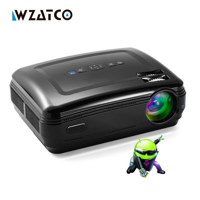 WZATCO Nuovo Android 6.0 Astuto WiFi 5500 Lumens Full HD 1080 P di multimedia LED 3D Proiettore TV proiettore beamer per home theater