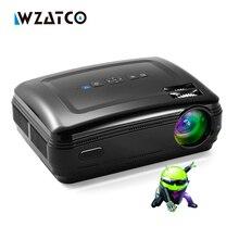 Wzatco Новый Android 6.0 Смарт Wi-Fi 5500 люмен Full HD 1080 P Мультимедиа светодиодный 3D ТВ proyector проектор для домашний кинотеатр