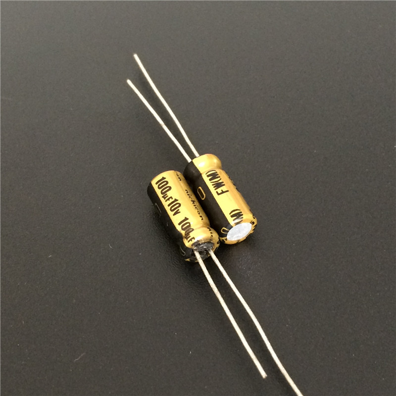 10pcs <font><b>100uF</b></font> 10V NICHICON FW Series 5x11mm 10V100uF <font><b>Audio</b></font> Aluminum Electrolytic Capacitor image