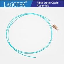 10/50/100/500PCS LC UPC OM3 Multimodale fibra ottica Codino LC 1.5M Simplex Ottico treccia di fibra LC 0.9 MILLIMETRI cavo in fibra ottica