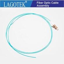 10/50/100/500PCS OM3 LC UPC Pigtail da fibra óptica LC 1.5M Simplex Óptica Multimodal cabo de fibra óptica LC pigtail da fibra 0.9 MILÍMETROS