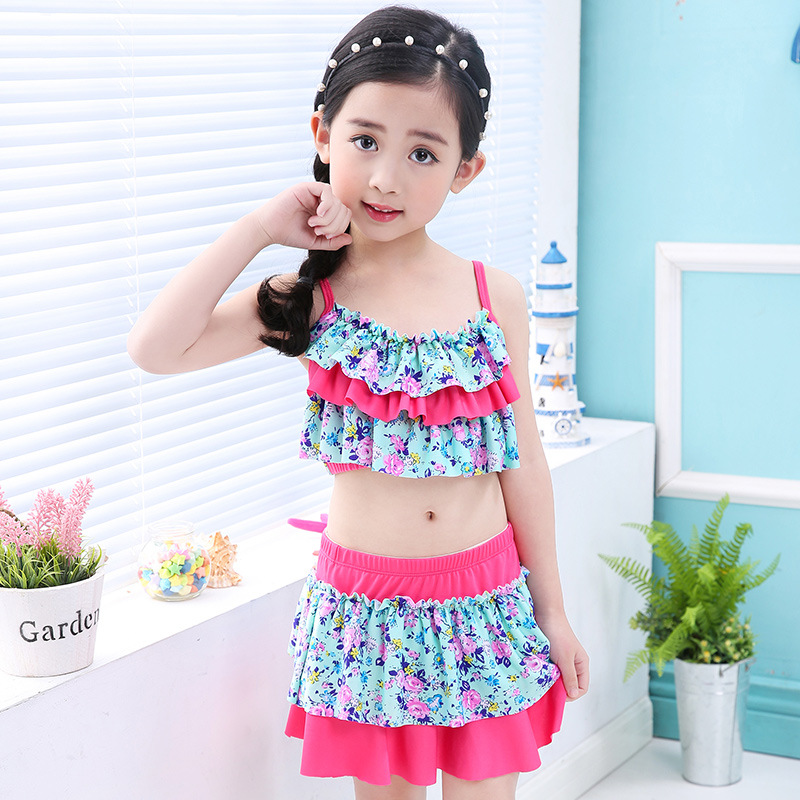 Swimwear Kids Baby Girls Flamingo Bikini Swimsuit Bathing Suit Children Summer Beachwear Two Piece