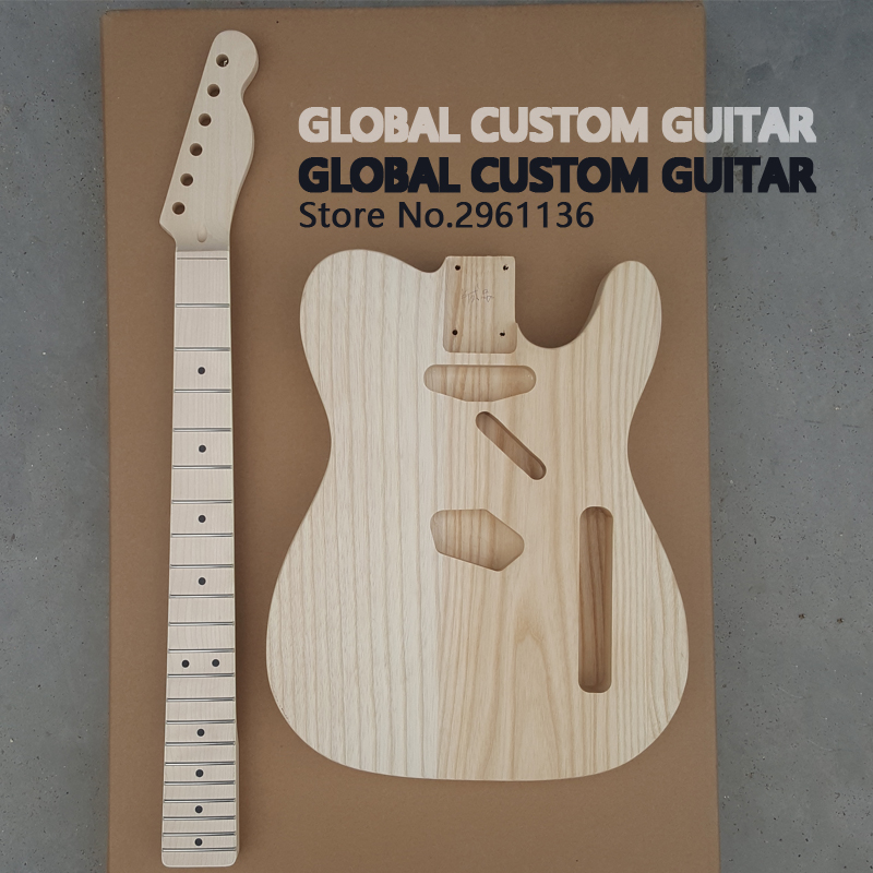 China's guitar, High quality Unfinished TL electric guitar ash DIY guitar,Real photos,free shipping цена и фото