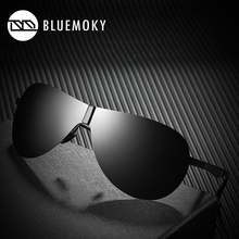 BLUEMOKY Male Rimless Siamese Aviation Sunglasses for Men Polarized UV