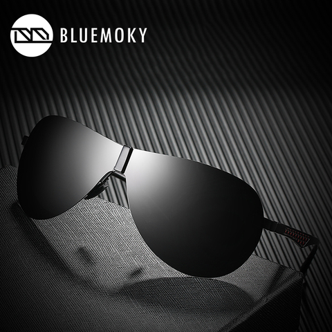 BLUEMOKY Male Rimless Siamese Aviation Sunglasses for Men Polarized UV400 Pilot Sun Glasses for Men Polaroid Sports Eyewear Pakistan