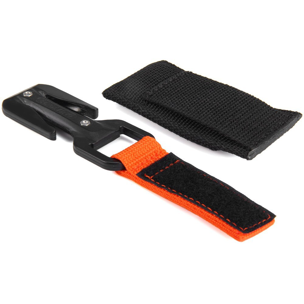 EZDIVE KF-SZ Two Sides Line Cutter Scuba Diving Knife// Two Spare Blades Sheath