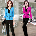 Evening Regular Fly Pant Suits Sale Polyester Full Spring 2016 New Business Attire Ladies Dress Fashionable Clothes
