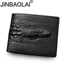 d9c27140fd0 2018 peau de Crocodile portefeuille hommes en cuir véritable petite  fermeture éclair petits portefeuilles pour hommes