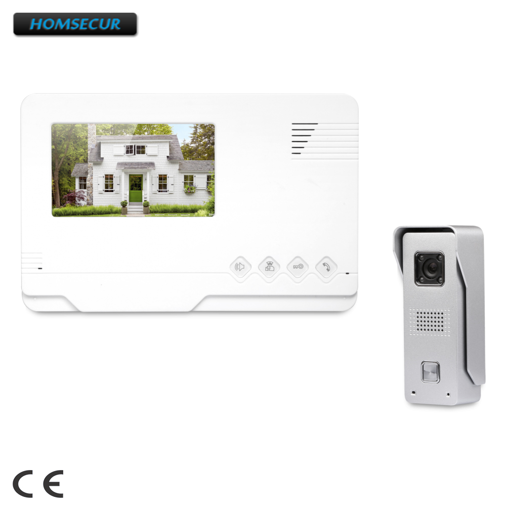 HOMSECUR Free Shipping From Russia 4.3inch Video Door Intercom 700 TVL+Night Vision+Waterproof Camera XC002+XM401