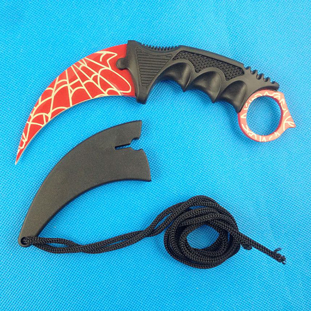 Counter Strike Karambit Claw Neck Knife with Sheath