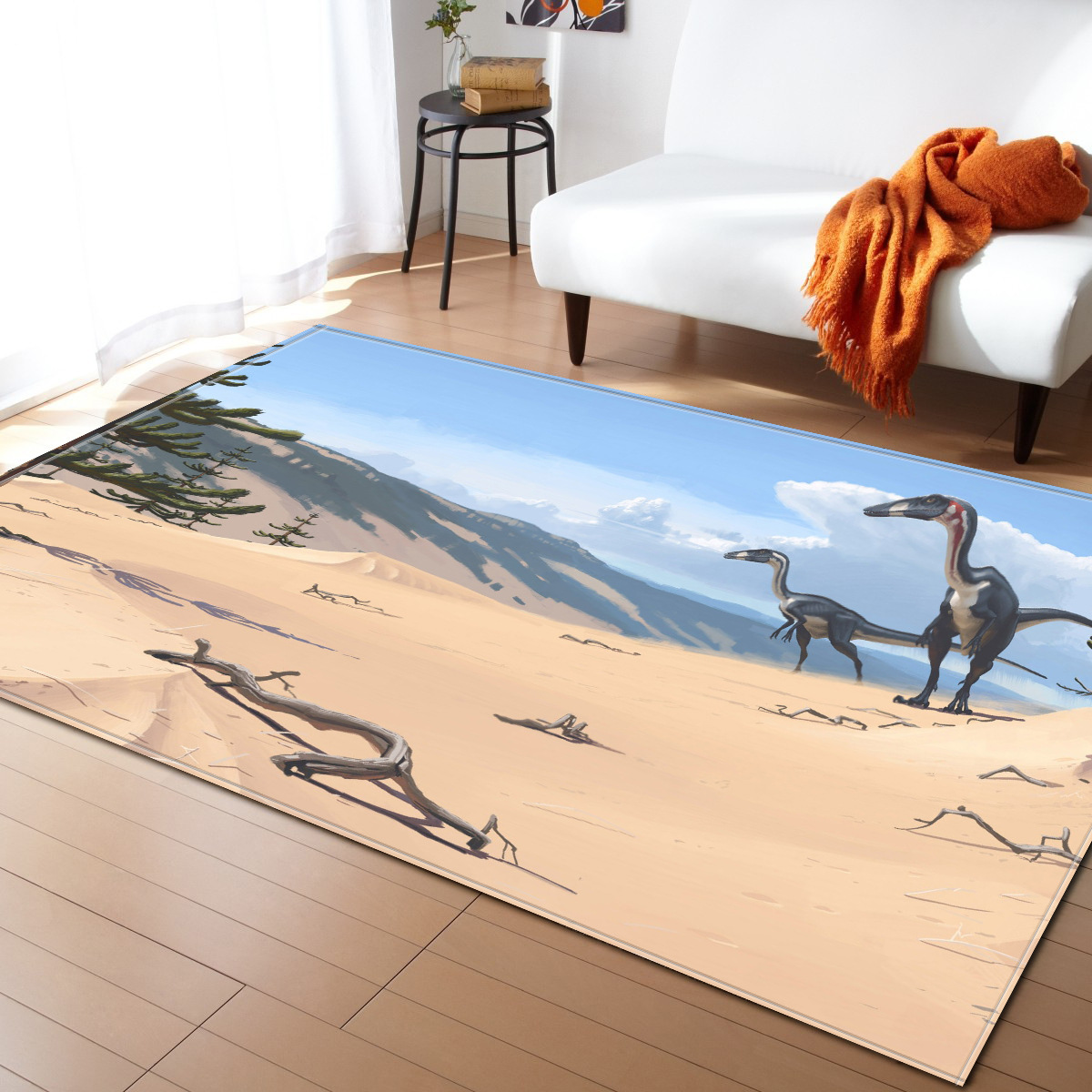 <font><b>3D</b></font> dinosaur Cartoon printed <font><b>Tapete</b></font> For Living Room Bedroom kids room Home Decor Carpet Rug Children Soft Play Mat image