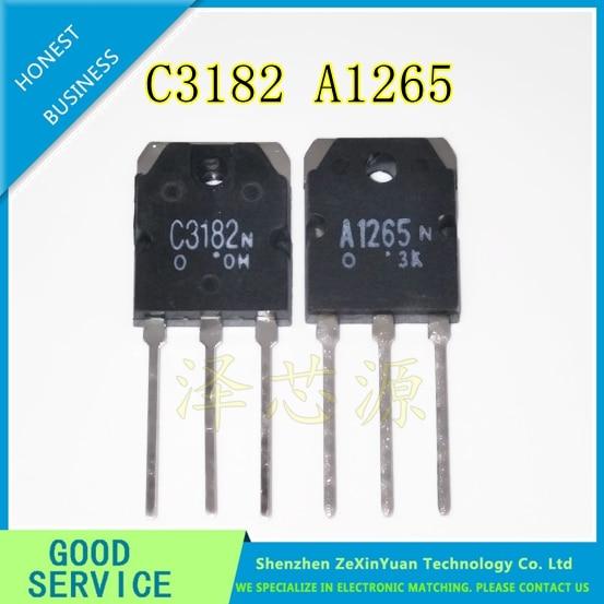 2SA1265 2SC3182 5PCS A1265 + 5PCS C3182