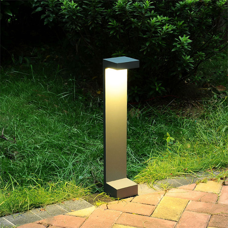 Outdoor lawn lamp LED outdoor waterproof courtyard patio garden villa simple modern outdoor street lamp bluerise modern outdoor umbrella garden patio sunshade 6 bones folding advertising beach garden tent umbrella villa garden