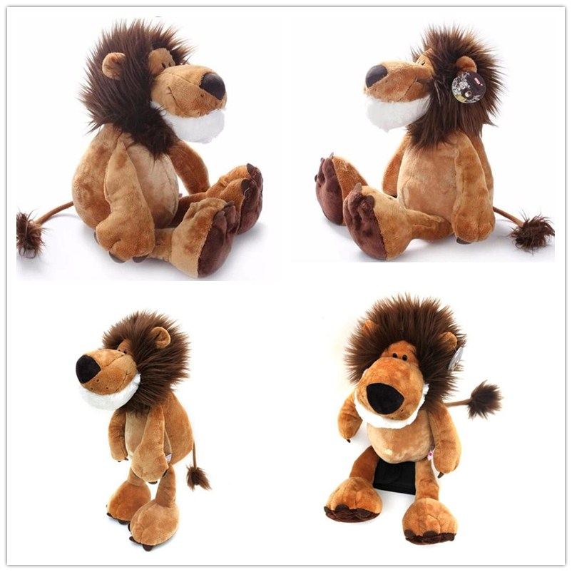 "Купить со скидкой 1pcs 10"" 25cm Popular NICI Lion Stuffed Doll Plush Jungle Series Animal TOYS Kids Toys"
