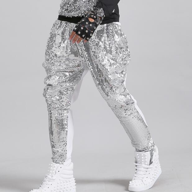Glittering Sequined Pants For Men, Long Pants, Hip Hop, Hip Hop, Rock,  Action, Suit, Night Show, Pencil Pants 27-38