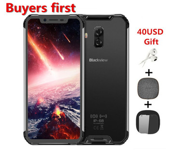 Перейти на Алиэкспресс и купить Оригинальный Blackview BV9600 pro IP68 Водонепроницаемый 19:9 6,21 дюймAndroid 8,1 смартфон 6 ГБ + 128 Гб MT6771 5580 мАч 4G NFC OTG Мобильный телефон